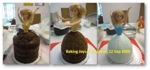 Doll cake transformation